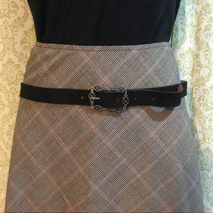 Vintage black belt with filigree belt